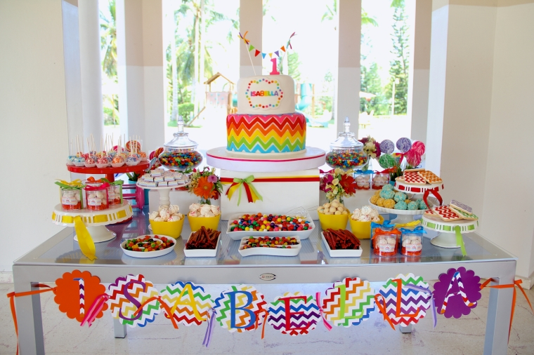 Rainbow Chevron Birthday Party